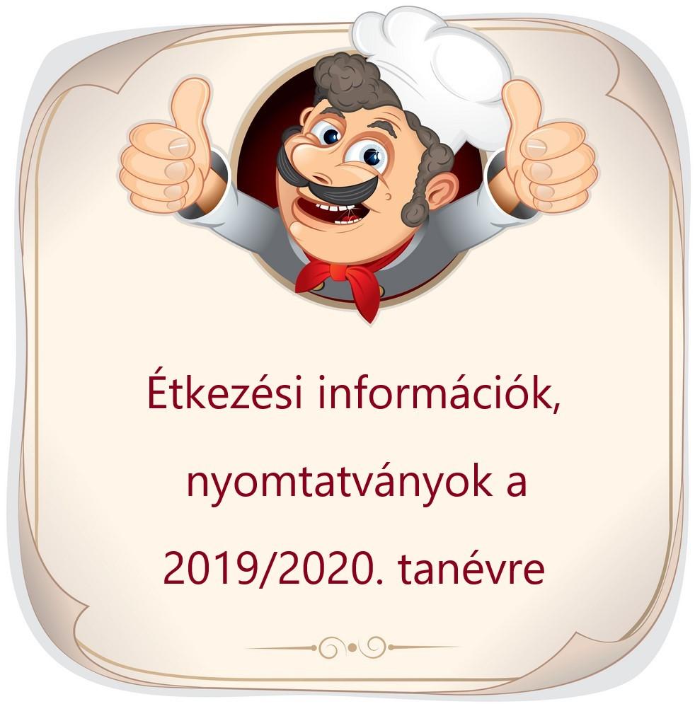 Étkezési információk 2019/2020