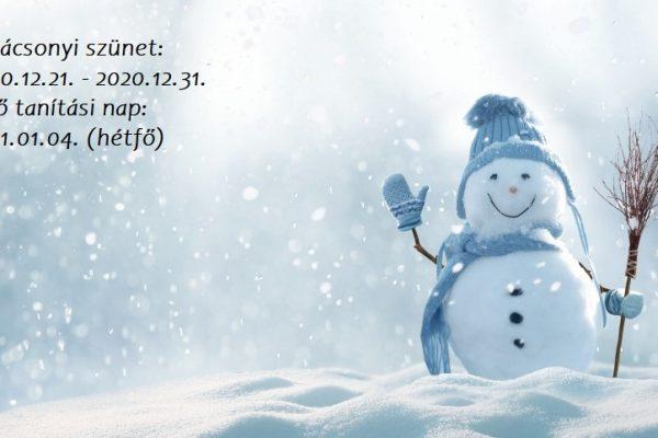 Karácsonyi szünet 2020/2021