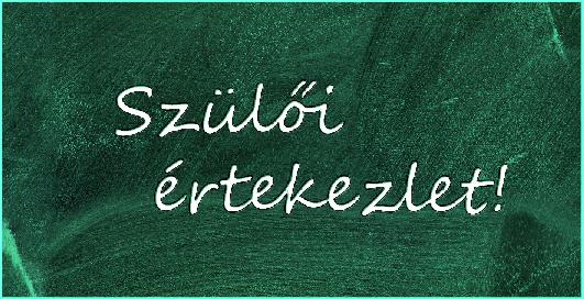 Online Szülői értekezlet – 2021.02.01.